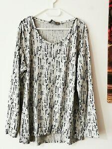CECIL Tunika Shirt Ballonshirt Bluse Gr.XL grau gepunktet ...