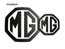 MG ZS LE500 MK2 Front Rear Insert Badge Logo 59mm/95mm Black Carbon/White Badges