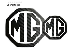 MG-ZS-ZR-LE500-Style-Badge-Insert-59mm-95mm-Black-Carbon-White-Badges-Front-Rear