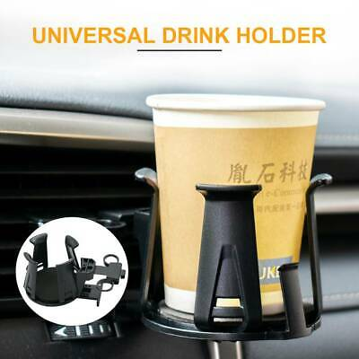 Universal Car Truck Fixed At The Air Outlet Plastic Cup Holder Bottle Holder for Water Cup Coffe Tumbler Drink Bottle Black