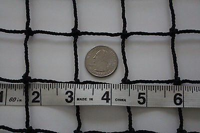 """Nets, Cages & Mats Golf Training Aids Systematic 12' X 12' Black Square Nylon Lacrosse Impact Netting 1 1/2"""" #30 Hockey Net"""