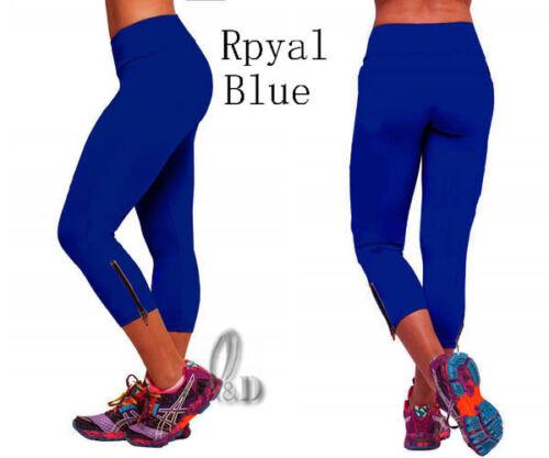 AU STOCK WOMENS SZ 8-14 YOGA SPORTS GYM RUNNING STRETCHY 3//4 PANTS LEGGINGS P020