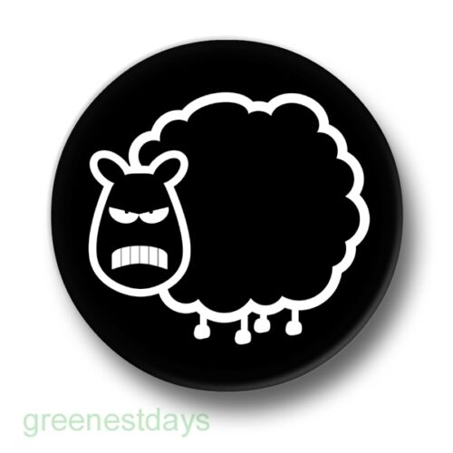 25mm Pin Button Badge Emo Goth Punk Animal Cute Black Baa Angry Sheep 1 Inch