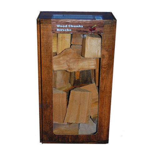 Räucherholz BBQ Chips Smoker Grill Holzstücke KIRSCHE Wood Chunks 1,5 kg Box