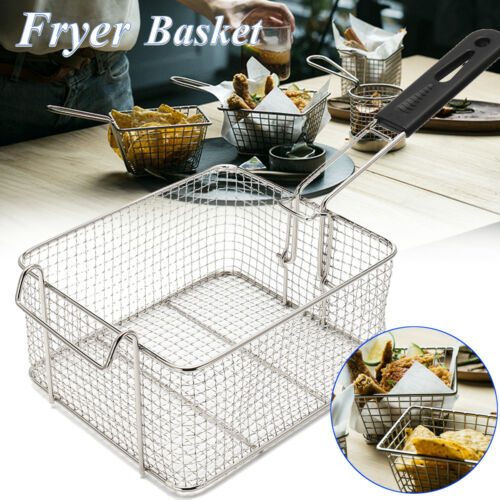 Universal Small Commercial Chip Fish Fat Frying Deep Fryer Basket 210x185x110mm