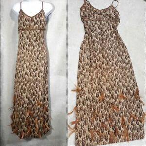 St-John-evening-gown-feather-dress-paillettes-size-4