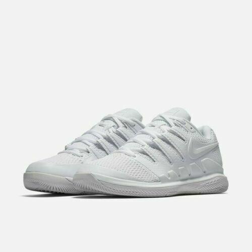 Nike Wmns Air Zoom Vapor X HC Womens Tennis Shoes White Grey AA8027 101 Size 5.5