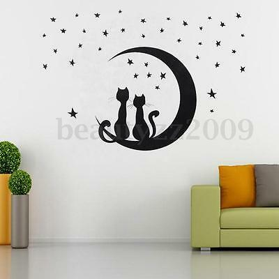 DIY Removable PVC Art Quote Star Cat Wall Sticker Decal Mural Home Room Decor