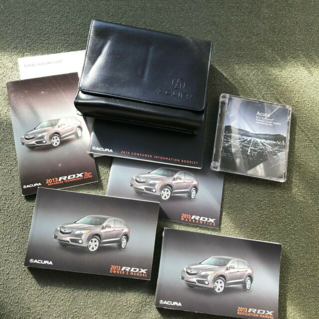 2013 ACURA RDX OWNERS MANUAL SET Car Navigation Guide ELS