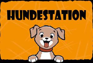 Hundestation Dog Tin Sign Shield Arched Metal 20 X 30 CM FA1629