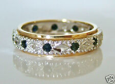 Beautiful 9ct Gold Sapphire and Diamond Full Eternity Ring
