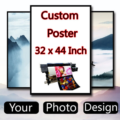 Custom Poster Design 32 x 44 inch Printing Thin Silk Fabric Not with frame