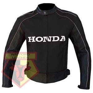 HONDA-5523-BLACK-MOTORBIKE-MOTORCYCLE-BIKERS-COWHIDE-LEATHER-ARMOURED-JACKET
