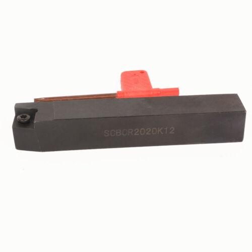 SCBCR2020K12 20x125mm Lathe External Turning Tool Holder 1pc CCMT120404 NN