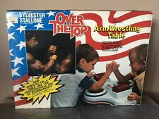 Vintage 1986 Lewco Over The Top Kids Arm Wrestling Table Sylvester Stallone RARE