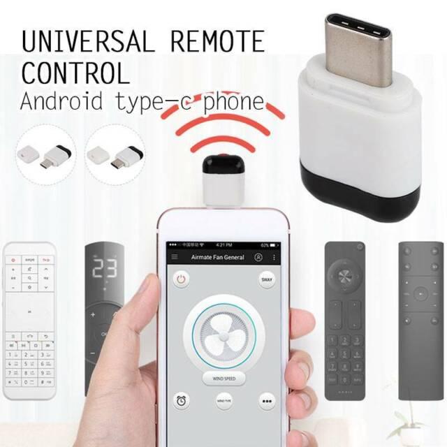 Micro USB Type C Phone IR Infrared Adapter Transmitter Remote Universal  Control