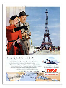 TWA Visit Rome 1960s Vintage Style Air Travel Poster 16x24