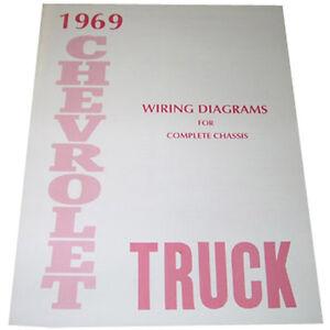 1969 wiring diagrams booklet chevrolet pickup truck ebay image is loading 1969 wiring diagrams booklet chevrolet pickup truck asfbconference2016 Gallery
