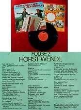 LP Horst Wende: Wir stehen auf Akkordeon Folge 2 (Polydor 2371 481) D 1973