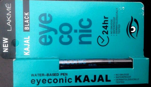 24 HRS LAKME KAJAL BLACK EYECONIC NO SMUDGE WATERPROOF FOR LONG LASTING STAY