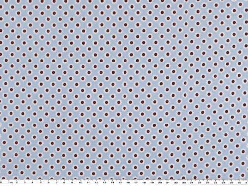 hellblau 145cm Feine Baumwoll-Popeline Blumen-Sterne