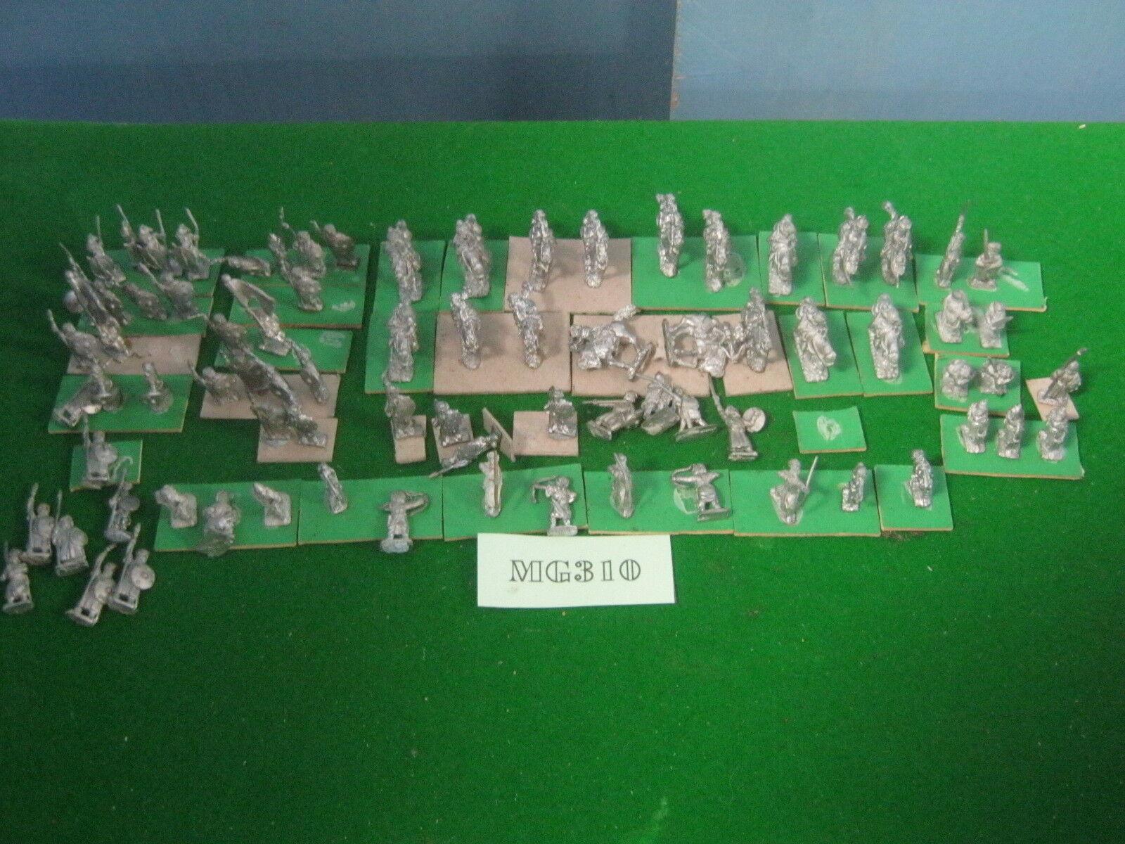DBA dBm 15mm conquista árabe Ejército, 70 figuras de metal sin pintar ref MG310