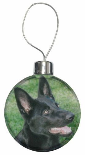 AD-G3CB Black German Shepherd Dog Christmas Tree Bauble Decoration Gift