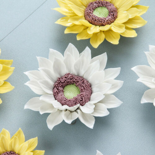 Ceramic Flower Wall Accessories 3D Sunflower Decoration Wall Ornament for Home O