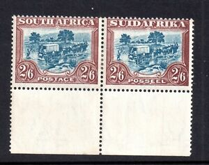 South-Africa-1927-2s-6d-mint-LHM-Margin-Bilingual-Pair-SG37-P14-WS18405