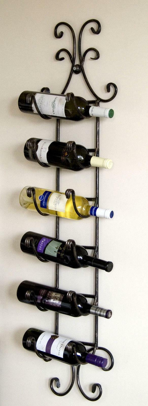 Botellero para Vino Estante de Parouge Colgar Hierro Forjado Portabotellas