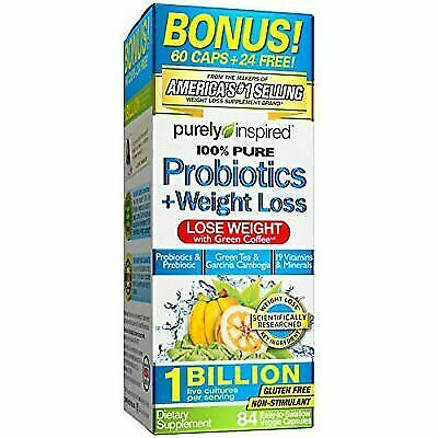Best Probiotics For Weight Loss 2020.Purely Inspired 100 Pure Probiotics Weight Loss 84 Veggie Capsules For Sale Online Ebay