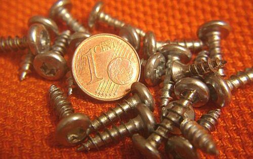 350 x Pan Head Schrauben 4 x 17 mm Halbrundkopf Möbelschrauben verzinkt Torx NEU