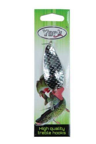 York Classique Clignotant cuillère spoon poids 9g-26g recht Clignotants poisson carnassier leurre