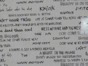 Details Zu 1635m² 25cmx115cm The Good Life Sprüche Schrift Patchworkstoff