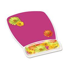 3M Fun Design Clear Gel Mouse Pad Wrist Rest 6 4/5 x 8 3/5 x 3/4 Daisy Design