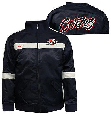 Nike Baseball Juniors Garçons Fermeture Éclair Veste Aviateur Manteau Bleu Marine 237623 451 A   eBay
