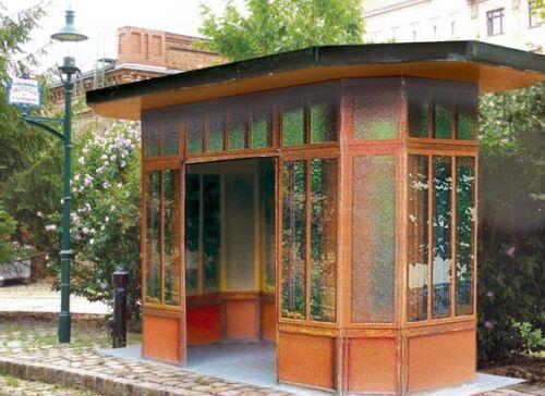 Scale 1:87 Cardboard Kit Tram H0 Tram Bus shelters Vienna Erdberg