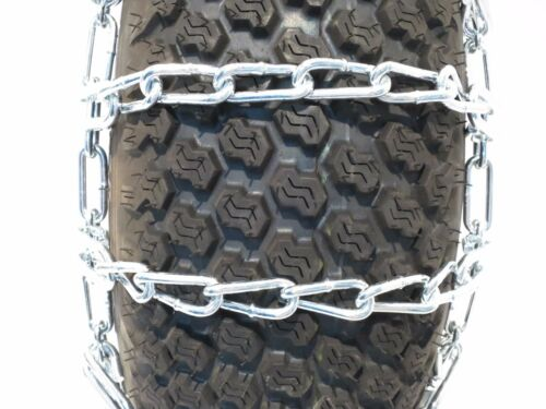 PAIR 2 Link TIRE CHAINS 23x9.50x12 for Simplicty Lawn Mower Garden Tractor Rider