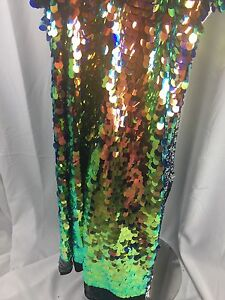 Sequins Fabric By The Yard Multi-Color Hologram Shiny For Dresses /& Decorations