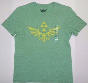 5c7ed1b40 The Legend of Zelda Triforce Symbol T-Shirt Green Athletic Fit ...