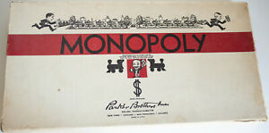 Vintage-Parker-Brothers-Monopoly-Game-No-9-1946-1954-Complete-W-Rules-White-Box