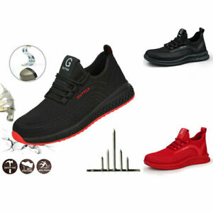 Mens Lightweight Safety Trainers Shoes Steel Toe Work Hiking Ankle Boots UK