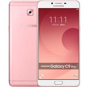 """Samsung Galaxy C9 Pro C9000 Pink Dual SIM 64GB 6GB RAM 16MP 6"""" Phone By FedEx"""