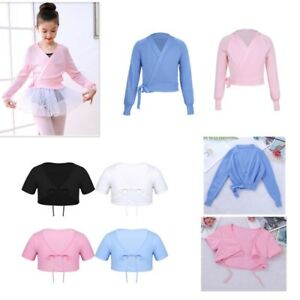 Girls-Classic-Shrug-Bolero-Cropped-Top-Cardigan-Wrap-Ballet-Dance-Dress-Cover