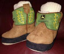 size 0-6 months Green Infant John Deere Cuffed Terry Socks//Booties