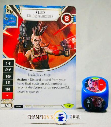 Star Wars Destiny Across the Galaxy Luce #2 Rare w// Die