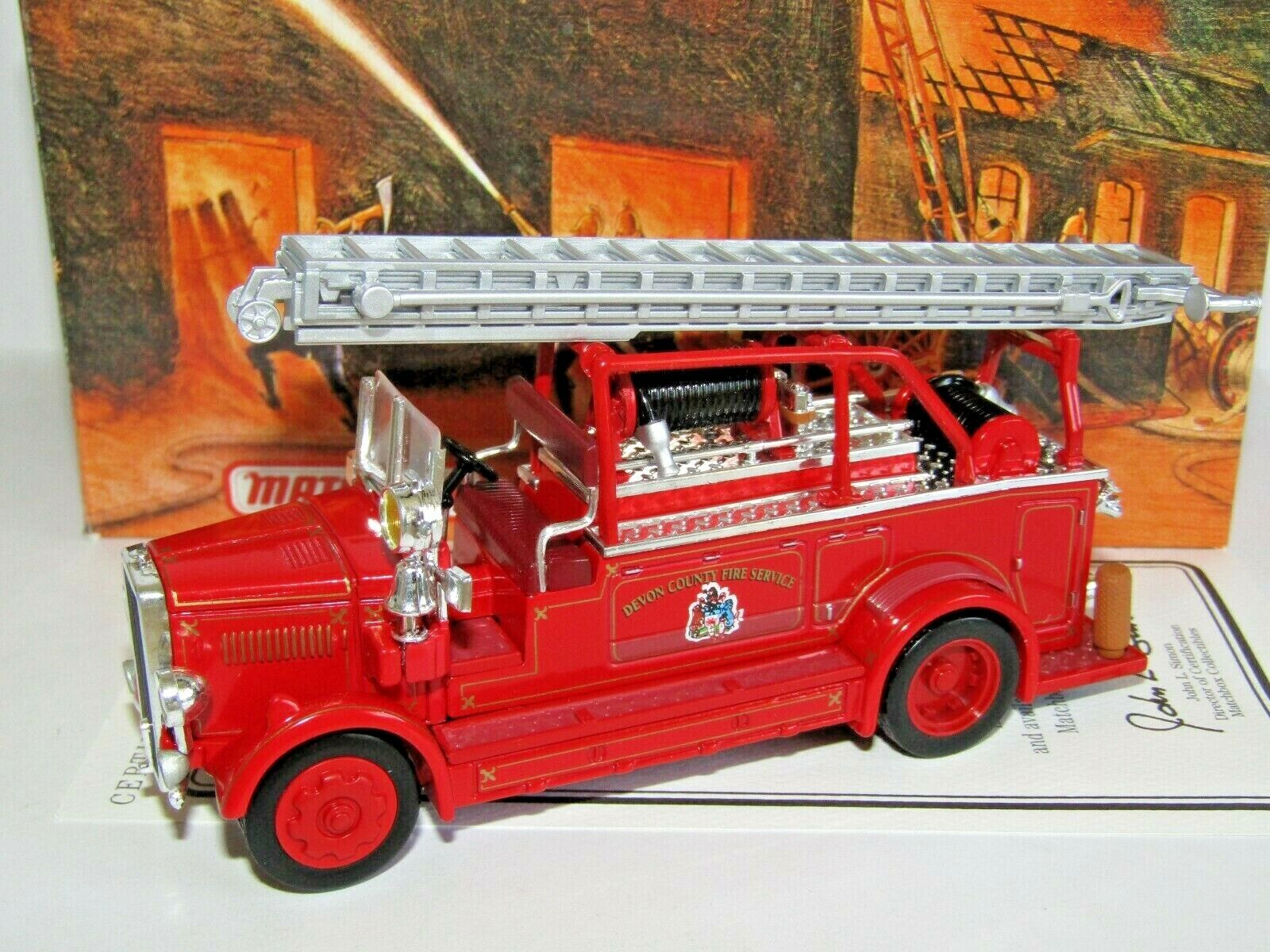 MATCHBOX MODELS OF YESTERYEAR 1936 LEYLAND CUB OPEN TOP LADDER FIRE YYM37635