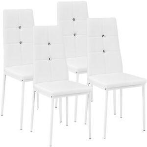 Weiß Stühle Stuhlgruppe 4x Stuhl Details Polsterstuhl Zu Esszimmerstuhl Set Küchenstuhl kiuPOZTlXw