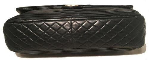 a0b93753fe661a CHANEL BLACK PLEATED Leather Classic Flap Shoulder Bag - $3,800.00 ...