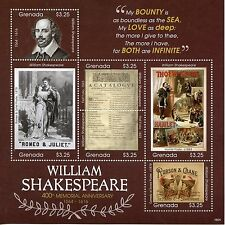 Grenada 2016 MNH William Shakespeare 400th Memorial Anniv 6v M/S Posters Stamps